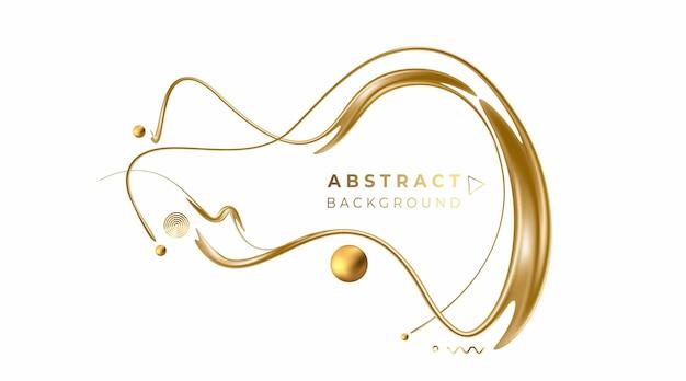 Абстрактные золотые светящиеся блестящие линии искусства эффект вектор фон. используйте для современного дизайна, обложки, плаката, шаблона, брошюры, украшенного, флаера, баннера.