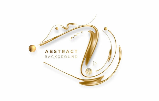 Abstract golden glowing shiny lines art effect vector background. use for modern design, cover, poster, template, brochure, decorated, flyer, banner.