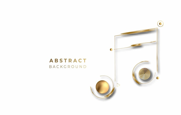 Абстрактный золотой светящийся блестящий фон вектор примечания музыки. используйте для современного дизайна, обложки, плаката, шаблона, брошюры, украшенного, флаера, баннера.