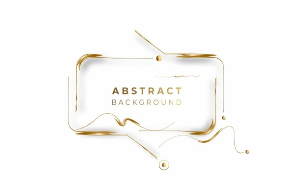 Abstract golden glowing shiny photo frame vector background. use for modern design, cover, poster, template, brochure, decorated, flyer, banner.