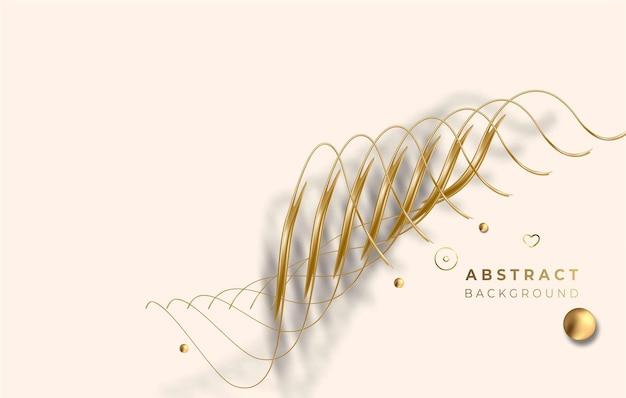 Абстрактные золотые светящиеся блестящие спиральные линии эффект вектор фон. используйте для современного дизайна, обложки, плаката, шаблона, брошюры, украшенного, флаера, баннера.