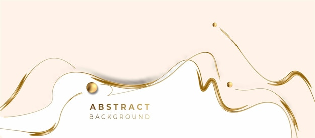 Abstract golden glowing shiny spiral lines effect vector background. use for modern design, cover, poster, template, brochure, decorated, flyer, banner.