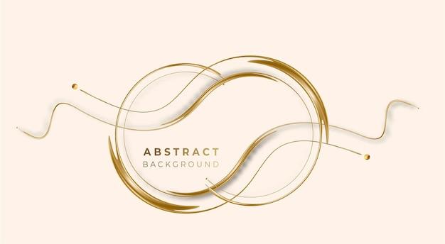 Абстрактная золотая светящаяся блестящая волна линий художественный эффект векторный фон. используйте для современного дизайна, обложки, плаката, шаблона, брошюры, украшенного, флаера, баннера.