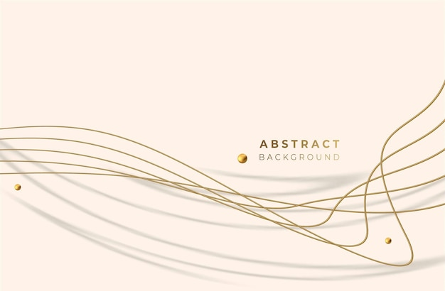 Abstract golden glowing shiny wave lines art effect vector background. use for modern design, cover, poster, template, brochure, decorated, flyer, banner.