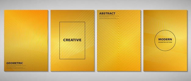 Abstract golden gradient brochure