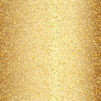 抽象的な黄金のハーフトーンパターン。金の水玉の背景