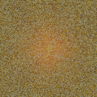 Abstract golden halftone pattern. gold polka dot