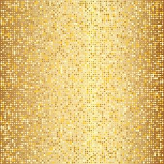 抽象的な黄金のハーフトーンパターン。金の水玉