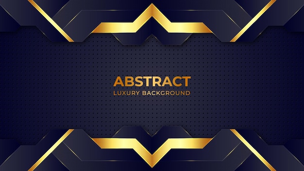 Abstract golden halftone pattern luxury background design template