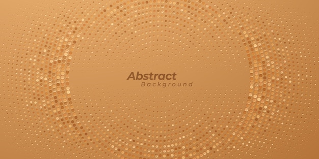 Abstract golden halftone texture design.