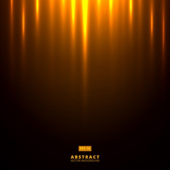 Abstract golden lighting on dark brown background