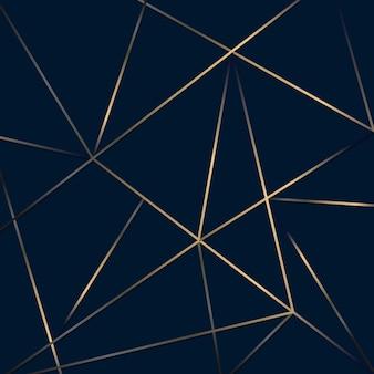 抽象的なゴールデン ライン メッシュ低ポリゴン パターン背景