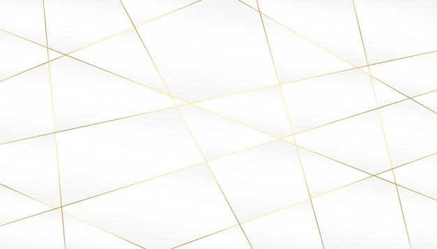 Abstract golden lines on white background