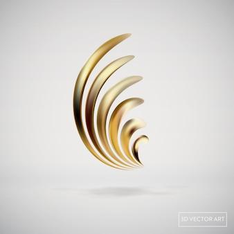 현대 그래픽 요소의 추상적인 황금 액체 유체 배경. 흐르는 모양의 동적 배너입니다. 포스터, 전단지, 프레젠테이션, 배너용 템플릿입니다. 벡터 일러스트 레이 션
