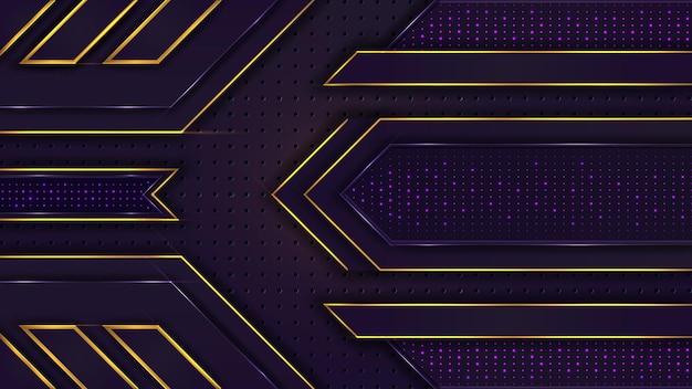 照明効果のある抽象的なゴールデンラグジュアリー紫の背景