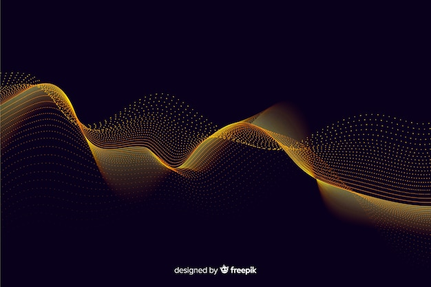 Abstract golden particles net background