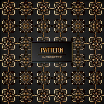Abstract golden pattern decorative background