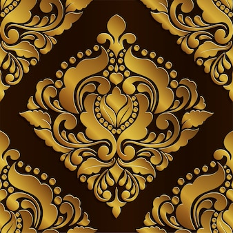 Abstract of​ golden pattern seamless design