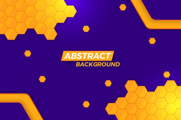 Abstract golden polygon background design