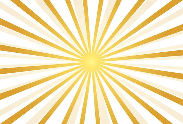 Abstract golden rays background