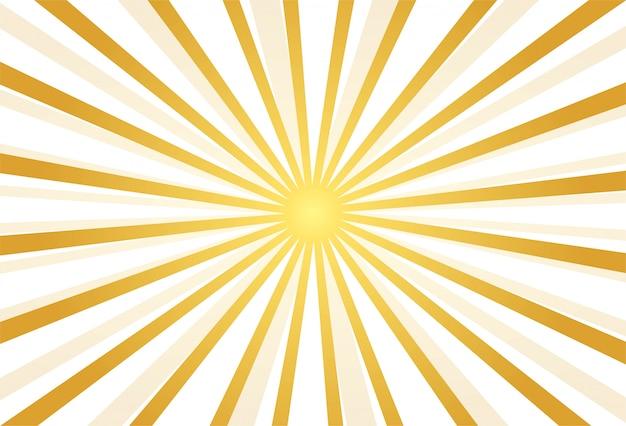 Фон абстрактный золотые лучи