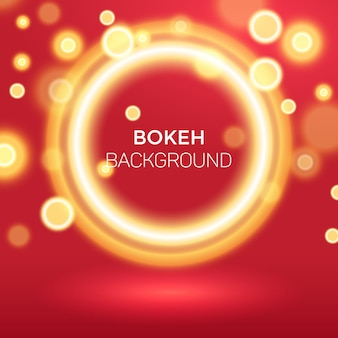 Abstract golden ring bokeh background