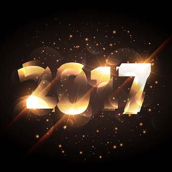 Abstract golden shiny new year background