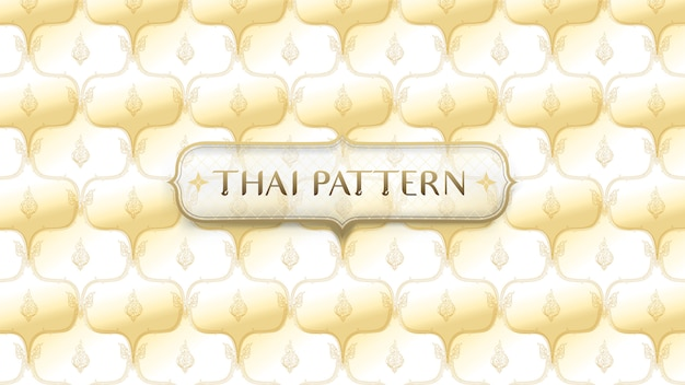 Abstract golden traditional thai pattern background