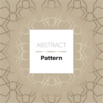 Abstract golden trendy geometrical pattern
