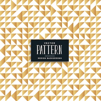 Abstract golden triangles seamless pattern