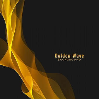 Abstract golden wave background