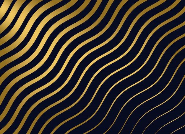 抽象的な金色の波状のパターンの背景