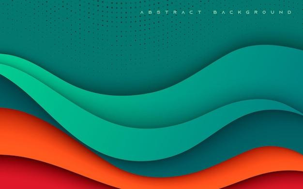 하프톤 장식으로 추상 그라데이션 배경 다채로운 기하학적