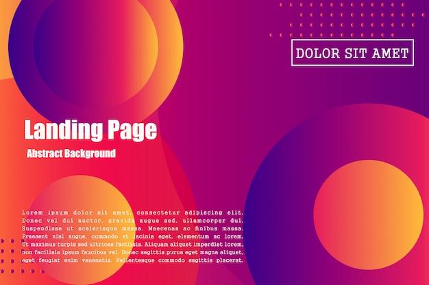 Abstract gradient background design, 3d fluid shape illustration
