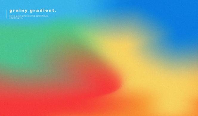 Абстрактный градиент фона дизайн с зернистым эффектом и цветами радуги
