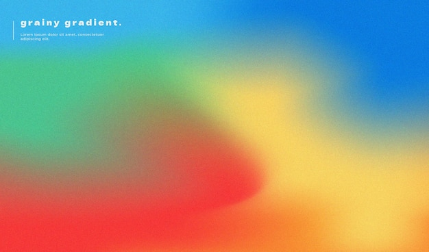 Abstract gradient background design with grainy effect and rainbow colors