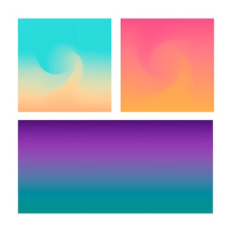 Abstract gradient background set on violet, pink abd blue color