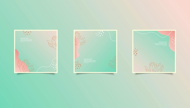 Abstract gradient background for social media post