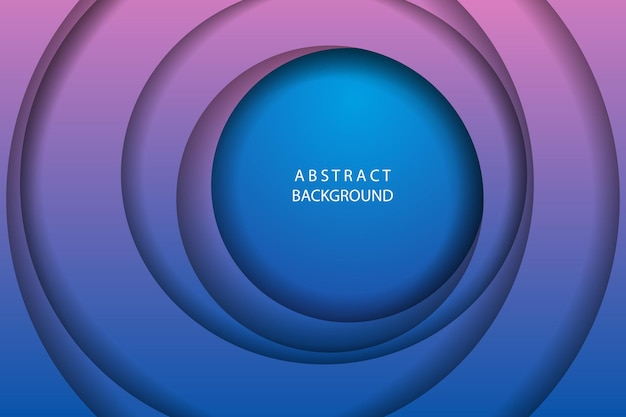 Abstract gradient background with circles illustration