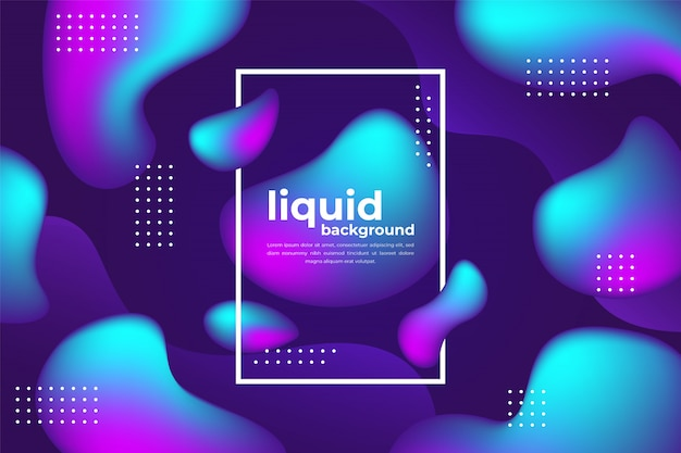 Abstract gradient background with fluid shapes