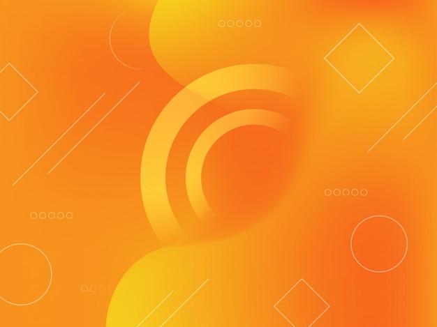 幾何学的図形と抽象的なグラデーションの背景。 Premiumベクター