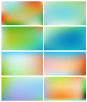 Abstract gradient backgrounds set