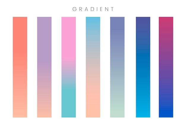 Abstract gradient banner set