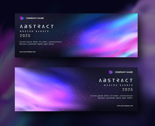 Abstract gradient banner space background