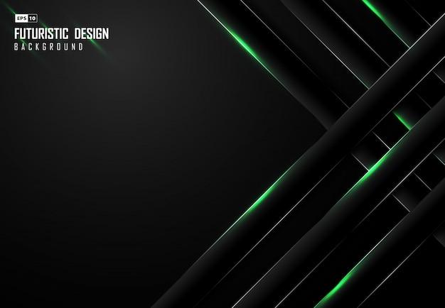 Абстрактный градиент черный фон с дизайном прямоугольника