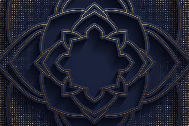 抽象的なグラデーションブルー高級ゴールデンラインテンプレートプレミアム