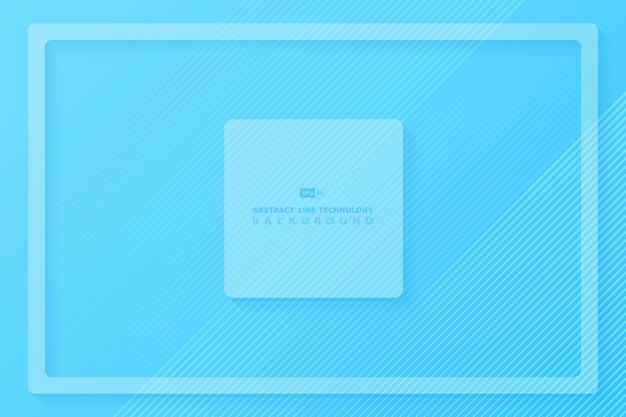Abstract of gradient blue minimal design background.