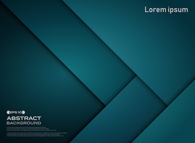 Abstract of gradient blue paper cut pattern background.
