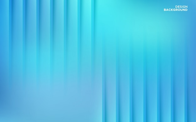 Abstract gradient blue paper cut shape background