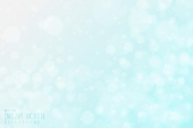 Abstract gradient blue sky bokeh design of dream sky artwork background.